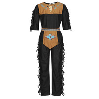 Textiel Heren Verkleedkleding Fun Costumes COSTUME ADULTE INDIENNE SHE-WOLF Multicolour