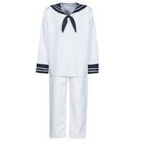 Textiel Heren Verkleedkleding Fun Costumes COSTUME ADULTE MARIN BLANC Wit