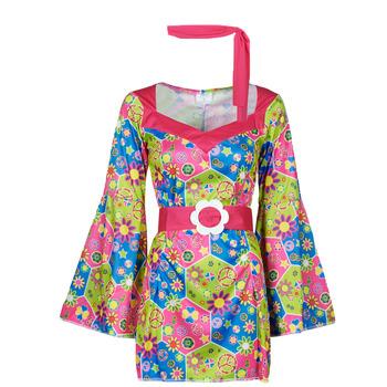 Textiel Dames Verkleedkleding Fun Costumes COSTUME ADULTE SWEET MEADOW Multicolour