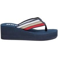 Schoenen Dames Slippers Big Star FF274A301 Bleu marine