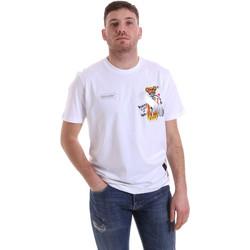 Textiel Heren T-shirts korte mouwen Disclaimer 21EDS50512 Wit