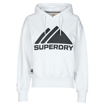 Textiel Dames Sweaters / Sweatshirts Superdry MOUNTAIN SPORT MONO HOOD Wit