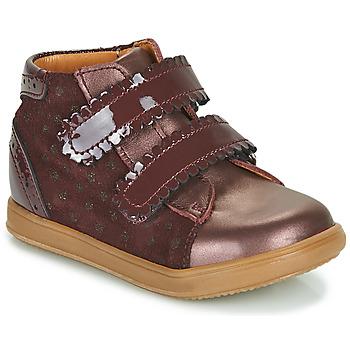Schoenen Meisjes Hoge sneakers Little Mary CRISTIE Bordeaux