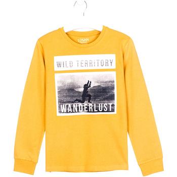 Textiel Kinderen T-shirts met lange mouwen Losan 023-1027AL Geel