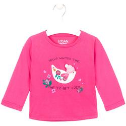 Textiel Meisjes T-shirts met lange mouwen Losan 026-1008AL Roze