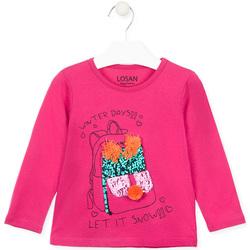 Textiel Meisjes T-shirts met lange mouwen Losan 026-1201AL Roze