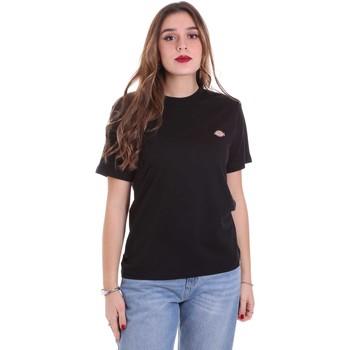 Textiel Dames T-shirts korte mouwen Dickies DK0A4TMYBLK1 Zwart