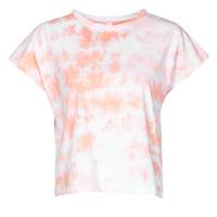 Textiel Dames T-shirts korte mouwen Yurban ONILA Wit / Roze