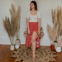 Textiel Dames Rokken Céleste TOURTERELLE Rood / Multicolour