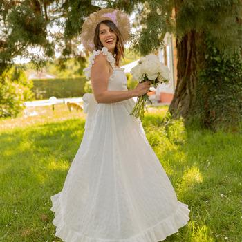 Textiel Dames Lange jurken Céleste AURORE Wit