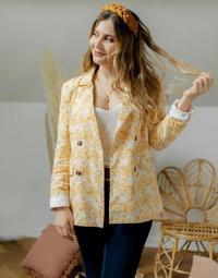 Textiel Dames Jasjes / Blazers Céleste ALIZE Geel / Wit
