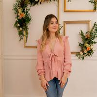 Textiel Dames Tops / Blousjes Céleste ROSSIGNOL Roze