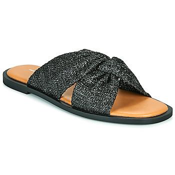 Schoenen Dames Leren slippers Vanessa Wu ANELLE Zwart