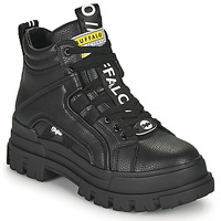 Schoenen Dames Laarzen Buffalo ASPHA NC MID Zwart