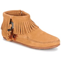 Schoenen Dames Laarzen Minnetonka CONCHO FEATHER SIDE ZIP BOOT  camel