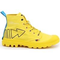 Schoenen Dames Hoge sneakers Palladium Manufacture Pampa Dare Rew Fwd Jaune
