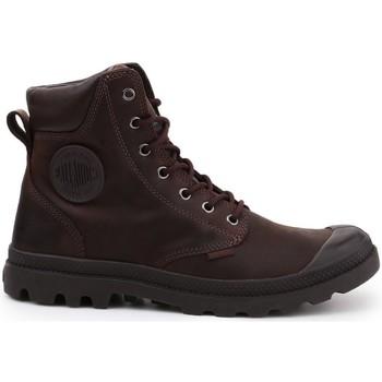 Schoenen Dames Hoge sneakers Palladium Manufacture Pampa Cuff WP Lux Marron