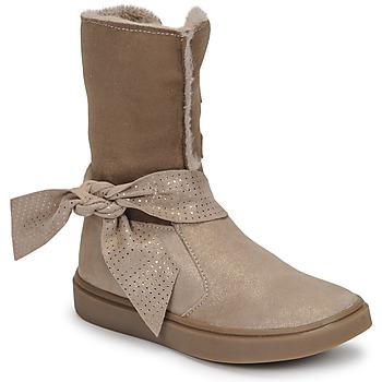 Schoenen Meisjes Hoge laarzen GBB EVELINA Beige