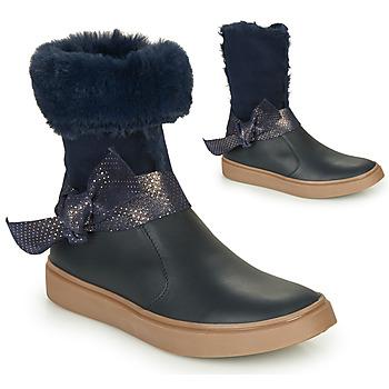Schoenen Meisjes Hoge laarzen GBB EVELINA Blauw