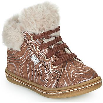 Schoenen Meisjes Hoge sneakers GBB JUNA Beige