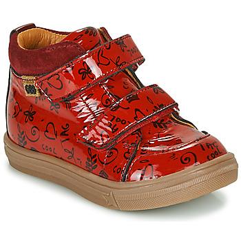 Schoenen Meisjes Hoge sneakers GBB DOMENA Rood