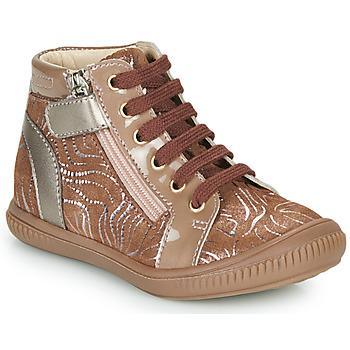 Schoenen Meisjes Hoge sneakers GBB RACHIDA Beige