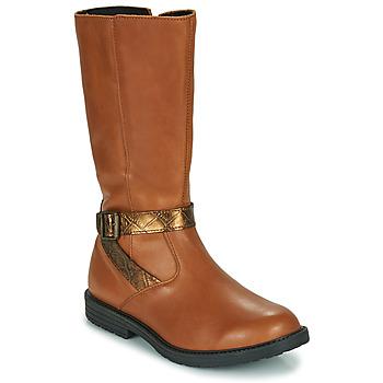 Schoenen Meisjes Hoge laarzen GBB OKINDI Brown