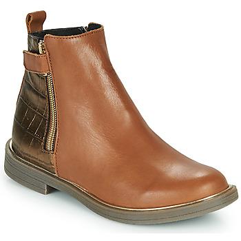 Schoenen Meisjes Laarzen GBB XIANA Brown