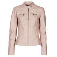 Textiel Dames Leren jas / kunstleren jas Only ONLBANDIT Roze