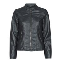 Textiel Dames Leren jas / kunstleren jas Only ONLMELISA Zwart