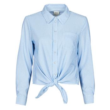 Textiel Dames Overhemden Only ONLLECEY Blauw