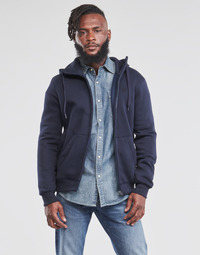 Textiel Heren Sweaters / Sweatshirts G-Star Raw PREMIUM BASIC HOODED ZIP SWEATER Marine