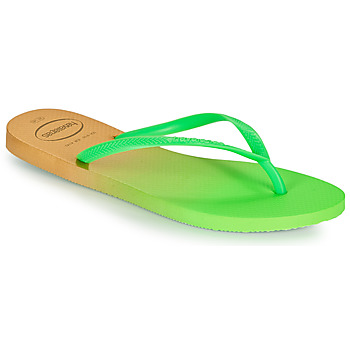 Schoenen Dames Slippers Havaianas SLIM GRADIENT Wit / Groen