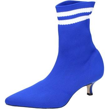 Schoenen Dames Enkellaarzen Olga Rubini Bottines BJ429 Bleu