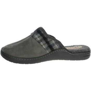 Schoenen Heren Leren slippers Uomodue PANNO  SCOZZESE-65 Brown