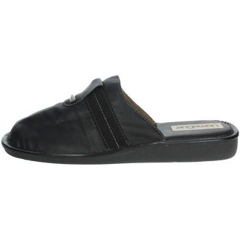 Schoenen Heren Leren slippers Uomodue CLASSIC-88 Black