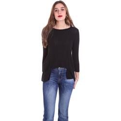 Textiel Dames T-shirts met lange mouwen Dixie T340M028 Zwart