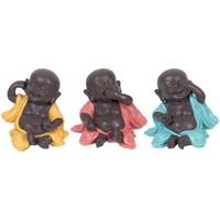 Wonen Beeldjes Signes Grimalt Boeddha'S Set 3 Eenheden Multicolor