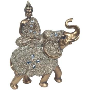 Wonen Beeldjes Signes Grimalt Boeddha Zittend Op Olifant Dorado