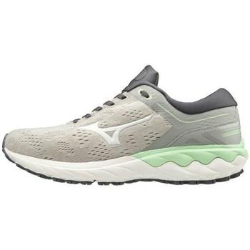 Schoenen Dames Lage sneakers Mizuno Wave Skyrise Blanc, Gris, Vert clair