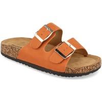 Schoenen Dames Leren slippers Buonarotti 1AY-1056 Naranja