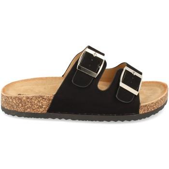 Schoenen Dames Leren slippers Buonarotti 1AY-1056 Negro
