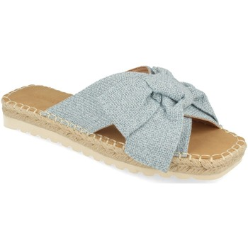 Schoenen Dames Leren slippers Buonarotti 1FB-1124 Azul