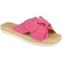Schoenen Dames Leren slippers Buonarotti 1FB-1124 Fucsia