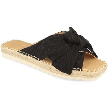 Schoenen Dames Leren slippers Buonarotti 1FB-1124 Negro