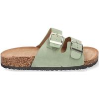 Schoenen Dames Leren slippers Buonarotti 1AY-1056 Verde