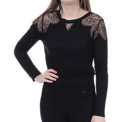 Textiel Dames T-shirts met lange mouwen French Connection  Zwart