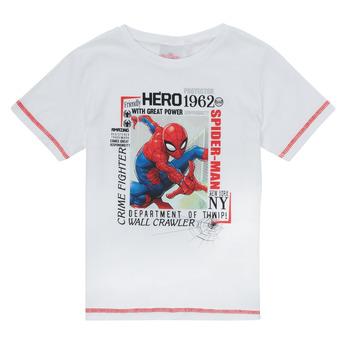 Textiel Jongens T-shirts korte mouwen TEAM HEROES  SPIDERMAN TEE Wit