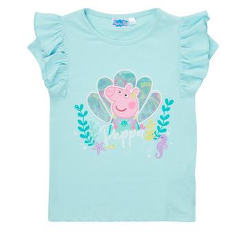 Textiel Meisjes T-shirts korte mouwen TEAM HEROES  PEPPA PIG TEE Blauw