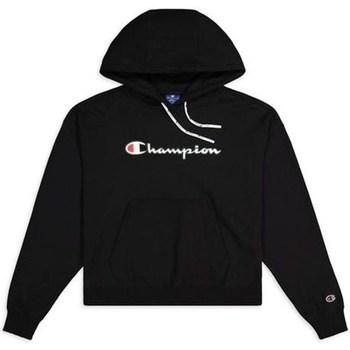 Textiel Dames Sweaters / Sweatshirts Champion Hooded Sweatshirt Nbk Noir